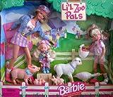 Barbie Farm Best Deals - Barbie Li'l Zoo Pals Gift Set w Barbie, Kelly & Stacie Dolls (1998)