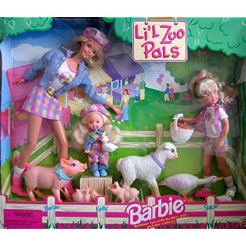 Amazon Com Barbie Li L Zoo Pals Gift Set W Barbie Kelly