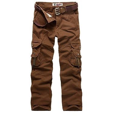HaiDean Pantalones De Camuflaje para Pantalones Hombre Militares ...