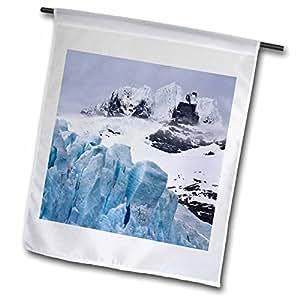 Danita Delimont - South Georgia Island - South Georgia Island, Harmer Glacier, Starbuck Peak-AN01 BJA0066 - Janyes Gallery - 12 x 18 inch Garden Flag (fl_75193_1)