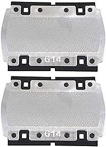 2 piezas de pantalla de aluminio para afeitadora Braun Pocketgo Pocket Twist E-Razor 614 350 355 370 375 5614 5615 ...
