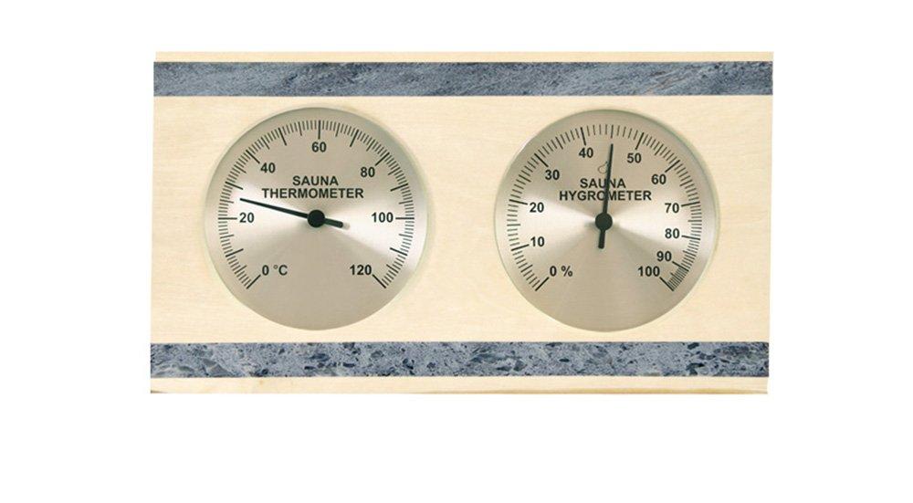 Saunathermometer Saunahygrometer Espe, Soapstone with Separate Display wellness4me