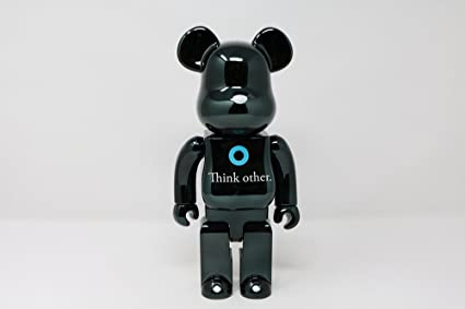 51f76b957cbf0 Image Unavailable. Image not available for. Color  Medicom I Am Other (Black  Version) 400% Bearbrick Figure