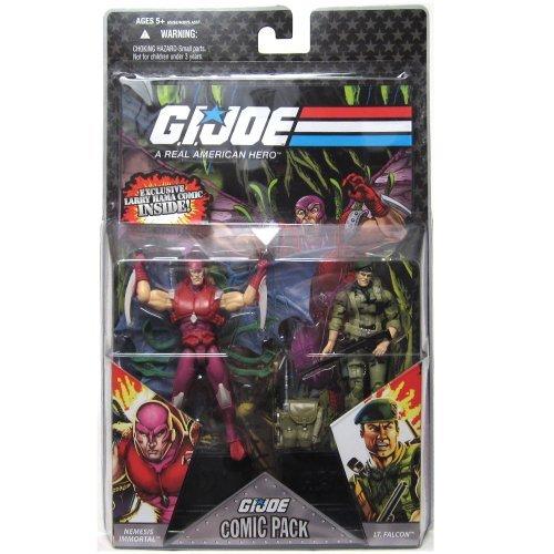 GI Joe Hasbro 25th Anniversary 3 3/4 Wave 5 Action Figures Comic Book 2Pack Falcon Nemesis Enforcer - Joe 25th Anniversary Wave