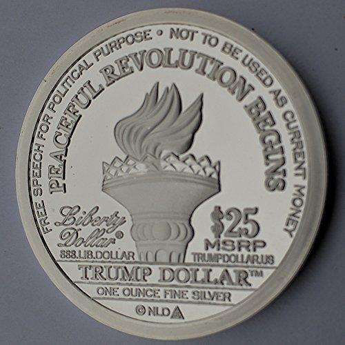 2017 Donald Trump Inaugural Silver Dollar Coin 25 1 Troy