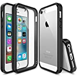 Ringke [FUSION] iPhone 5S Case Crystal Clear PC Back TPU Bumper [Drop Protection/Shock Absorption Technology] for Apple iPhone SE (2016) / 5S (2013) / 5 (2012) - Black