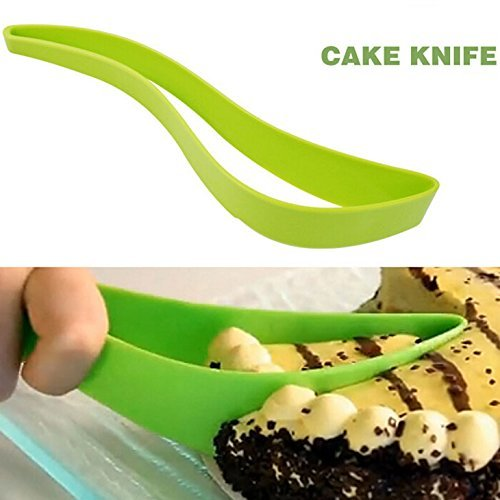 (Chige 1-piece Cut Cake Knife Cutting Clip Cake Pie Slicer Knife Pizza Clips Birthdays, Weddings, Holidays, Kitchen)