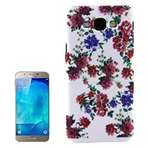 Peony Pattern Plastic Protective Case Cover Carcasa Para Samsung Galaxy A800 A8 /