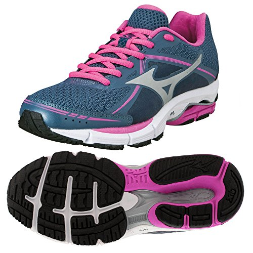 Fuchsia Women's Wave Shoes Ultima Running 6 Blue Mizuno W1ZnSq