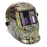 Youareking Adjustable Auto Darkening Solar Power Welding Helmet Forest Camo Arc Tig Mig Mask with 2pcs welding gloves (Design 6)