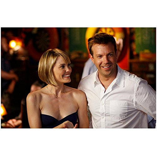A Good Old Fashioned Orgy 8x10 Photo Jason Sudeikis White Shirt & Leslie Bibb Strapless Black Dress Both Smiling - White Black Orgy