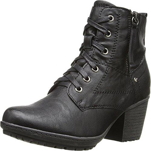 Black Bootie PATRIZIA Black Leatherette PATRIZIA Womens Leatherette Bootie Womens BaS7a