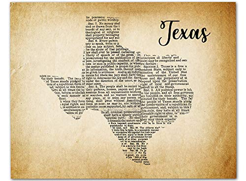 (Vintage Style Texas Map Wall Art 14