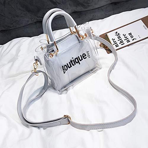 d'été Bag Transparent Petit Messenger Argent Sac WSLMHH marée Femme Portable épaule Sac Sauvage OPwXw5qnx0