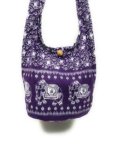 Kraft4Life Messenger Boho Bohemian Crossbody PL1 Shoulder Dye NEW Hobo Bag Tie purple Hippie Sling SRSZrq