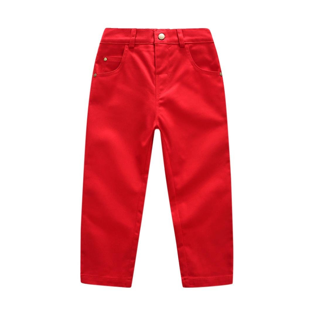Juner Toddler Boys Bottoms, Gentleman Solid Pocket Trousers Casual Slacks Long Pants YINGJIN