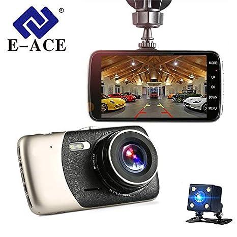 Coche Dvr 4 pulgadas Auto Camera Dual Lens FHD 1080P Dash Cam Grabador de video con cámara de visión trasera Registrator Visión nocturna DVRs