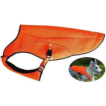 smartelf Dog Cooling Vest,Dog Cooling Coat Evaporative Swamp Cooler Jacket Safety Reflective Vest for Large Dogs Walking Outdoor Hunting Training Camping Orange-XXL