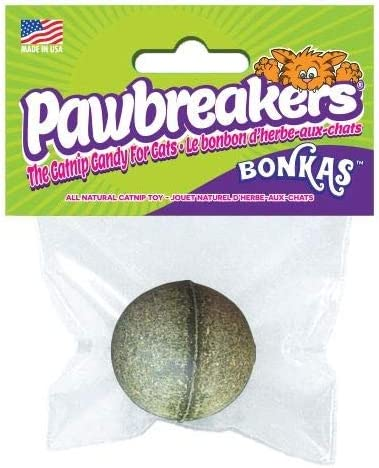 17 grams All-Natural Catnip Candy Toy for Cats Pawbreakers Bonkas