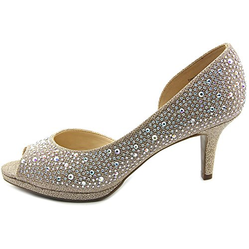 Kelly \u0026 Katie Darlene Women US 6.5 Gold Peep Toe Heels