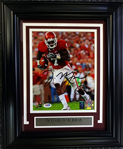 DEMARCO MURRAY AUTOGRAPHED FRAMED 8X10 PHOTO OKLAHOMA SOONERS PSA DNA STOCK   90603 aaf34c7e3