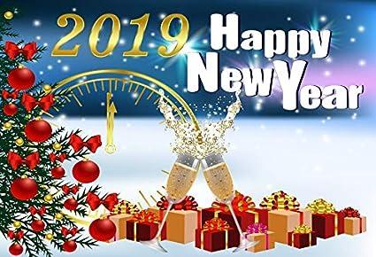 Christmas Celebration 2019 Amazon.: Leowefowa 2019 Happy Year Celebration Backdrop 7x5ft