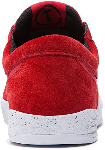 Supra - Zapatillas de skateboarding para hombre rojo rojo