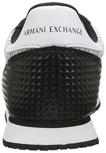 Exchange A Black Mens Sneaker 9550638P422 White Retro X Running Armani Geocentric q11BCnrw4E