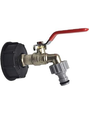 Estilo A tanque de almacenamiento de agua 1//2Acople de manguera Aceite Combustible Agua Adaptador de grifo para tanque IBC