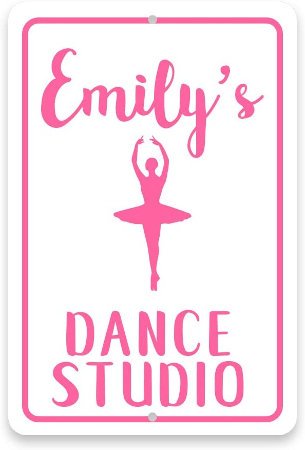 Pattern Pop Personalized Ballet Dance Studio Metal Room Sign