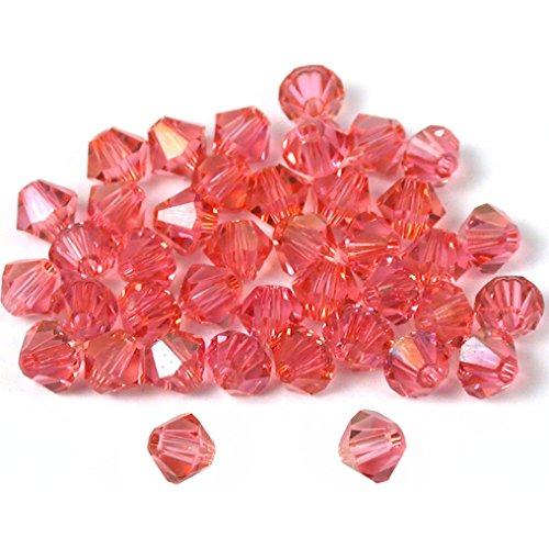 40 Rose Bicone Swarovski Crystal Beads Beading 5301 4mm ()