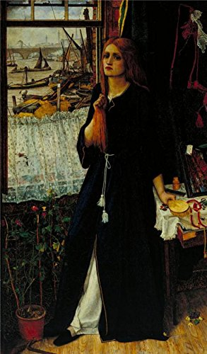 Oil Painting 'John Roddam Spencer Stanhope - Thoughts Of The Past,1859' 10 x 17 inch / 25 x 43 cm , on High Definition HD canvas prints is for Gifts And Home Theater, Nursery And Study Room (Single Gang Readers)