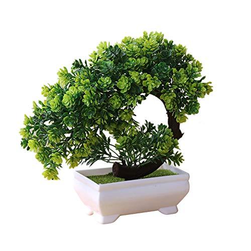 LamicARSimulation Fake Potted Bonsai Tree,Artificial Plant, Desk Ornament, Home Decor - ()
