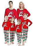 Matching Family Christmas Pajamas Boys Girls Elk Jammies Children Gift Set Size 6