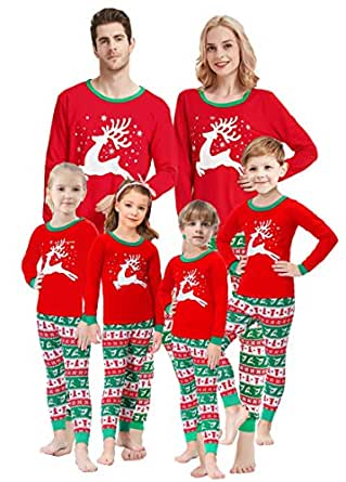 0ea401230e Amazon.com  shelry Girls Pajamas for Christmas Children Heart ...