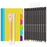 CREATIVE DESIGN 1 Pack Sticky Notes 60 Ruled Notes 12 Fineliner Colored Pens & 2 Highlighter, School & Office Supplies