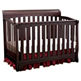 Delta Children Eclipse 4 in 1 Convertible Crib, Black Cherry/Espresso