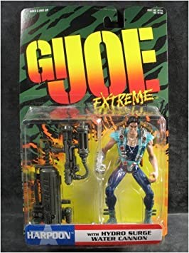 Gi Joe Extreme HARPOON WITH HYDRO SURGE WATER CANNON