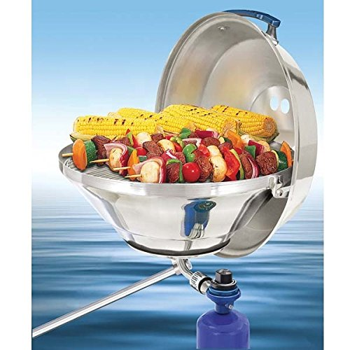 Marine Kettle Gas Grill with Hinged Lid, Party Size by Magma