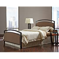 Fashion Bed Group Transitional Gibson Complete Bed, Queen, Brown Sugar/Brown Sparkle