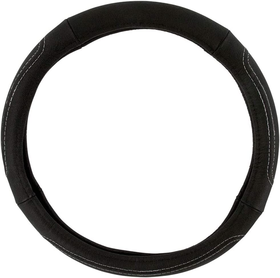 Steering wheel Cover Stitched leather Comfort Black