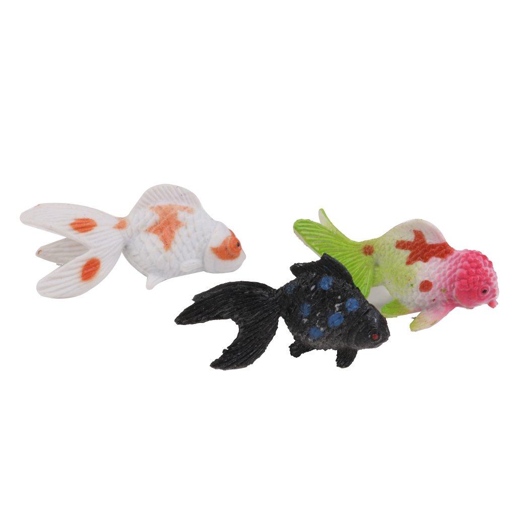 12pcs Modelo Juguete Animales Peces De Colores Artificiales Plástico Colorido: Amazon.es: Juguetes y juegos