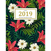 2019 Planner: A Year - 365 Daily - 52 Week Inspirational Quotes journal Planner Calendar Schedule Organizer Appointment Notebook, Monthly Planner, To do list, Action Day Passion Goal Setting Happiness Gratitude Book | Havai Floral Cover
