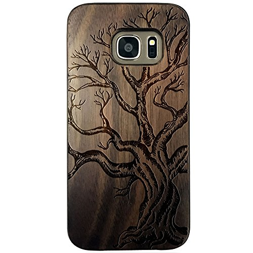 (For Samsung Galaxy S7 Case,BTHEONE New Arrival Handmade Hard Unique Natural Tree Wood Wooden Case Cover Shell Compatible For Galaxy S7 G9300 (5.1