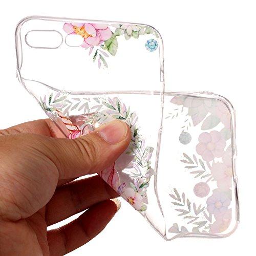 iPhone 8 Plus Hülle Rotes Einhorn Premium Handy Tasche Schutz Transparent Schale Für Apple iPhone 8 Plus + Zwei Geschenk