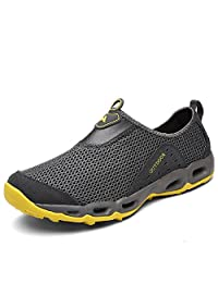 Mens Water Shoes Quick Drying Lightweight Walking Sneaker on Beach Swimming Fishing Boating Cruise Casual Footwear