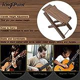 KingPoint Solid Beech Wood Guitar Footstool 4