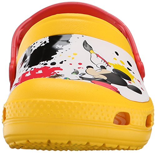 crocs Unisex-Kinder Creative Mickey Paint Splatter Clogs Gelb (Yellow)
