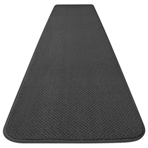 Skid Resistant Carpet Runner Gray 8 Ft X 27 In