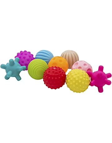 ee4ad6f97 Dightyoho Pelotas Sensoriales Bebé sin BPA con Sonido, 10pcs Juguetes para  Niños 1-4